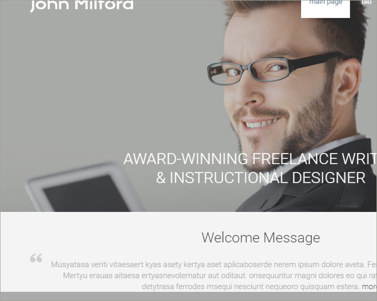 Writer WordPress Theme