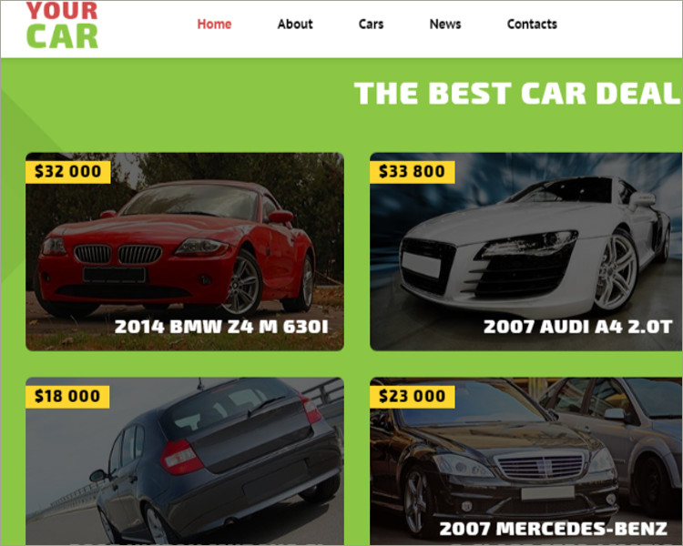 Your Car Website Template