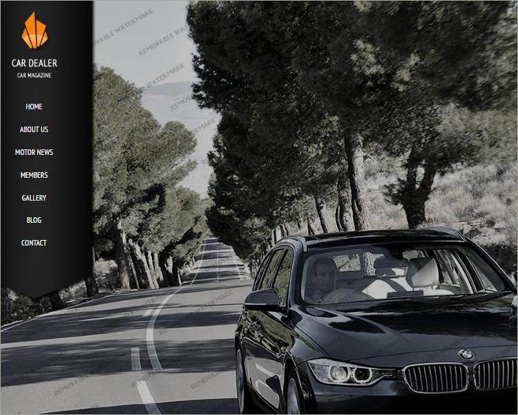 best Car Dealer Website Template