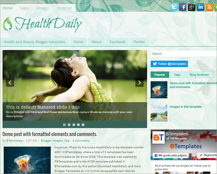 best free blogger themes