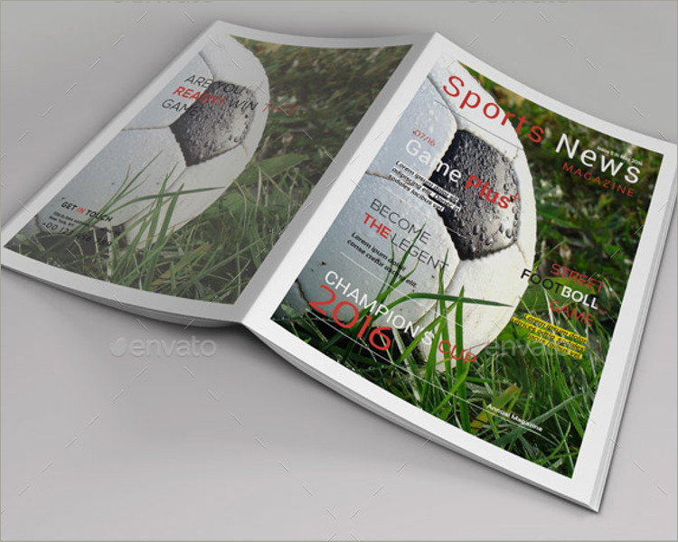 best sports magazine template