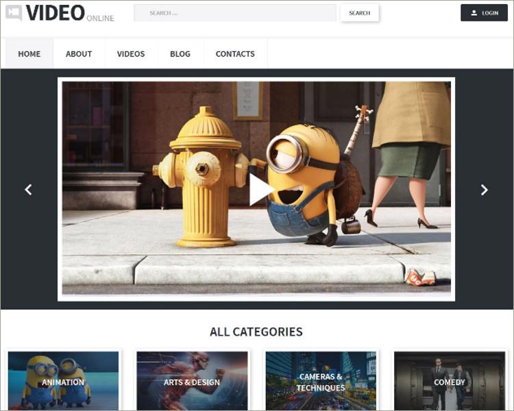 best video blog WordPress Theme