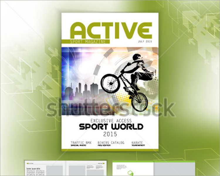 bike sports magazine template