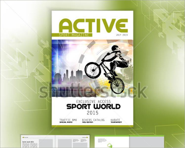 bike sports magazine template