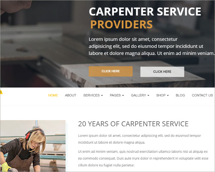 carpenter wp theme