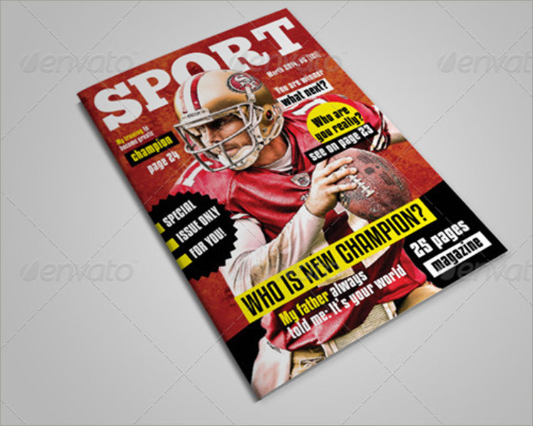 creative sports magazine template