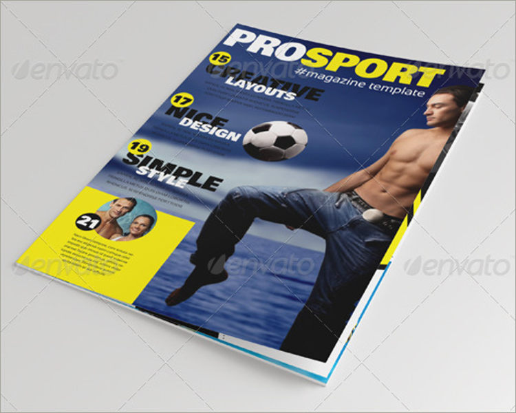 custamizable sports magazine template