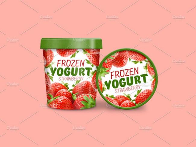 customizable Icecream cup Packaging Mockup