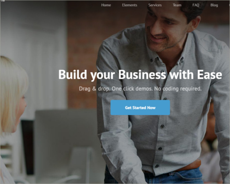 digital agency wordpress template