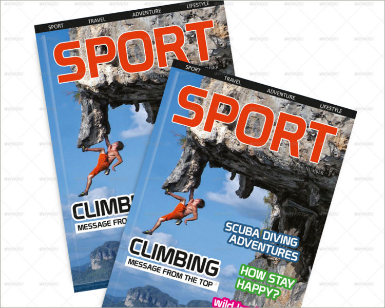download sport magazine template