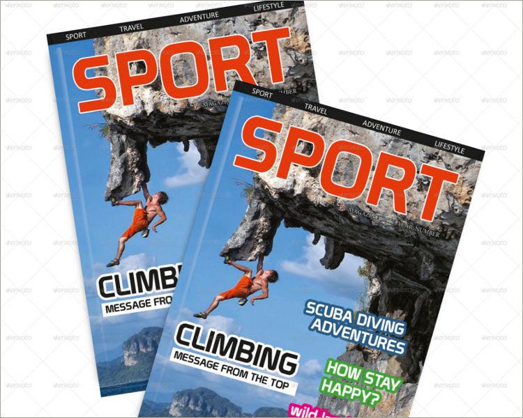download sport magazine template
