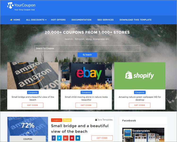 e commerce blogger template