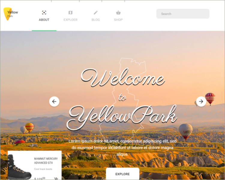 elegant social media website template