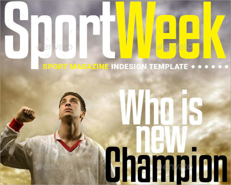 elegant sports magazine template