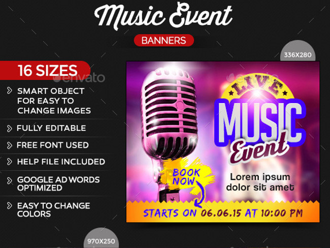 event banner template24