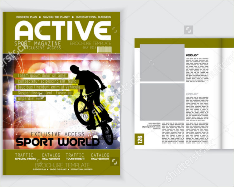 exclusive sports magazine template