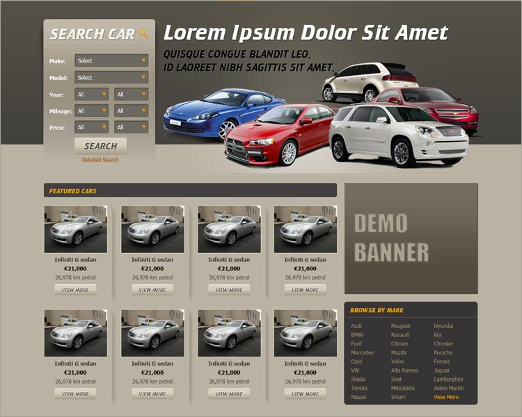 free Car Dealer Website Template