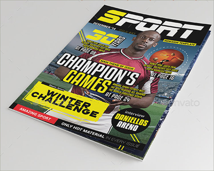games magazine template