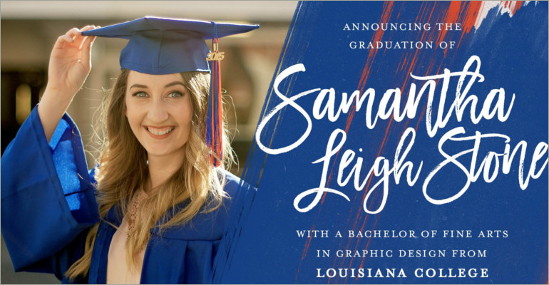 graduation anounce invitation template feat