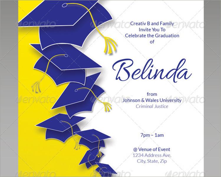graduation invitation flyer template
