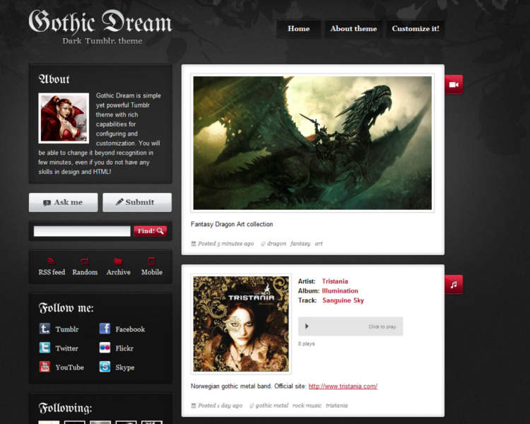 grafic tumblr theme