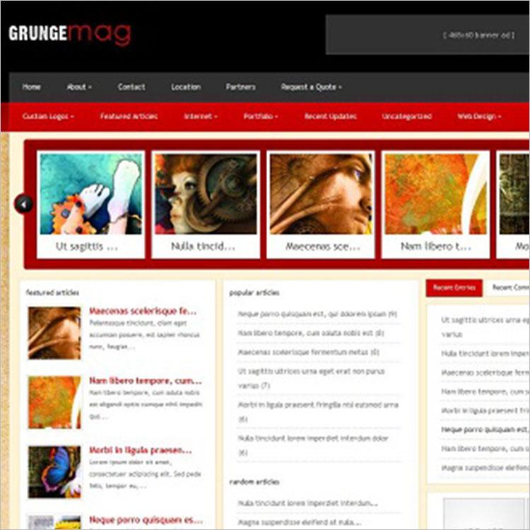 grunge templates free