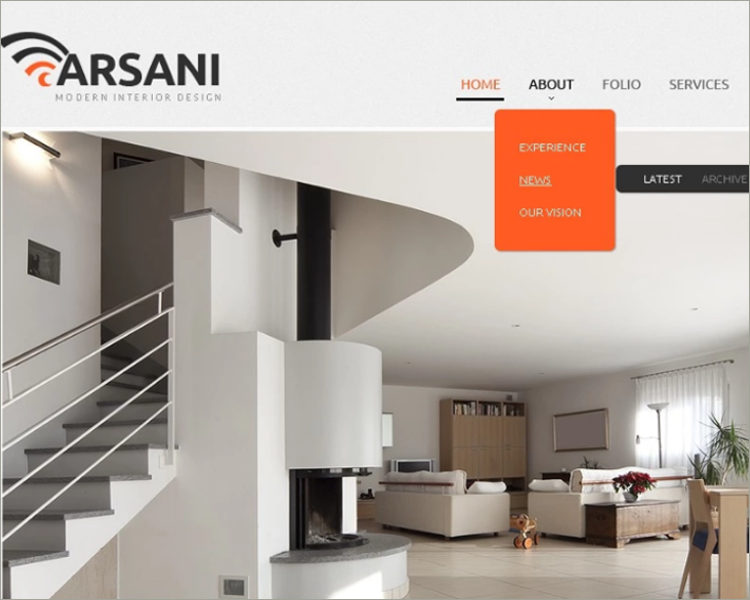 home Interior Design Website Template