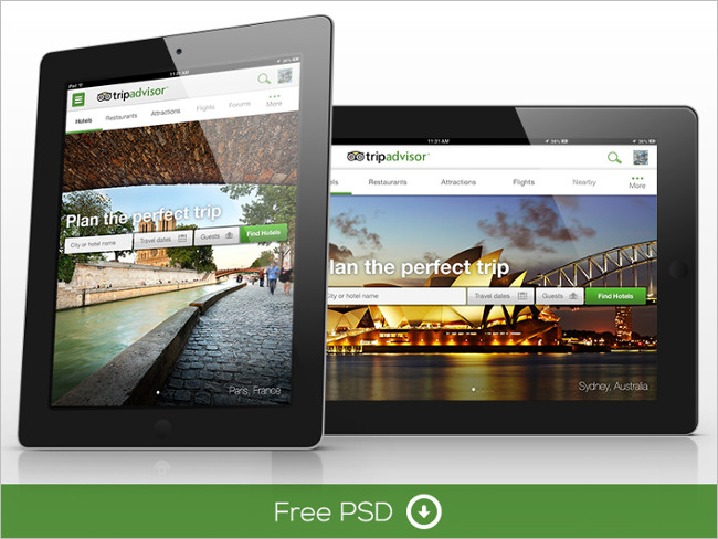 iPad Free PSD Tablet Mockup Downloadable