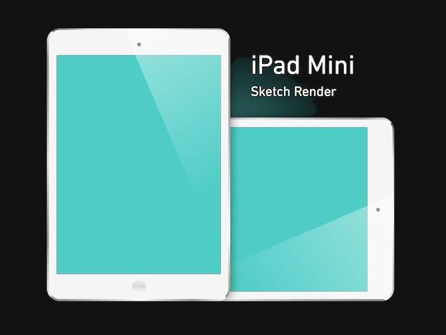 iPad Mini Free PSD