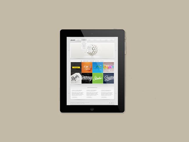 iPad With Diagonal Shadow Free PSD