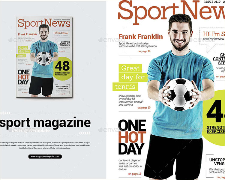 indesign sport magazine template