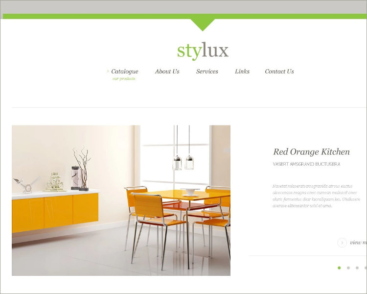 interior furniture design website template