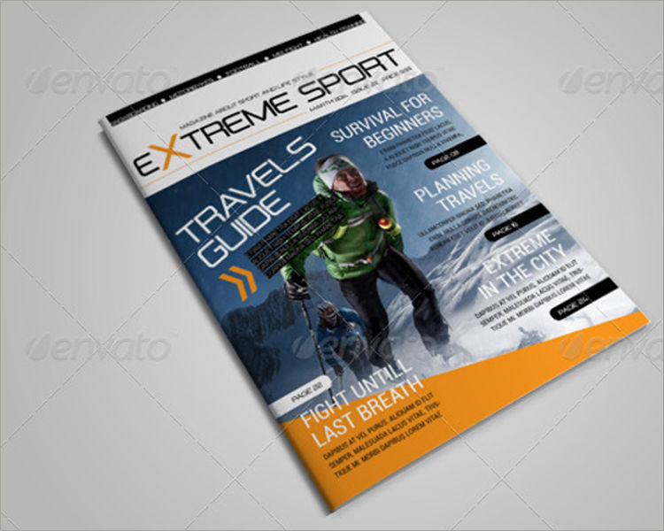 magazine template for extreme sports