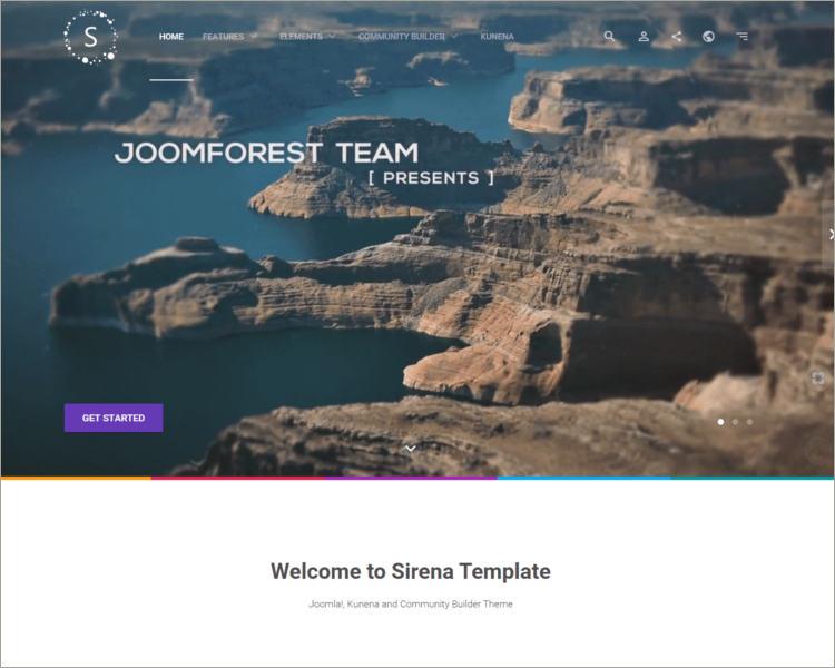 material design social media website template