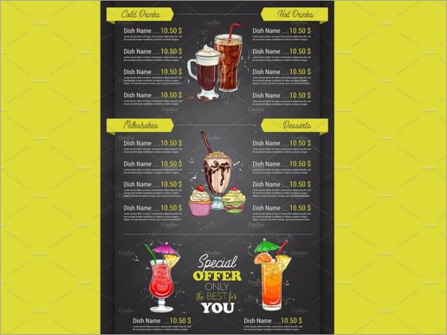 menu brochure design 10