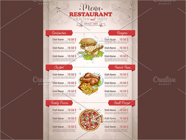 menu brochure design 11