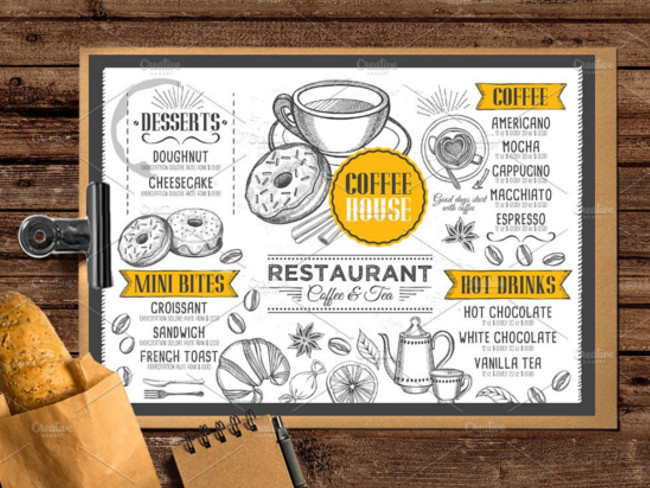 menu brochure design 12