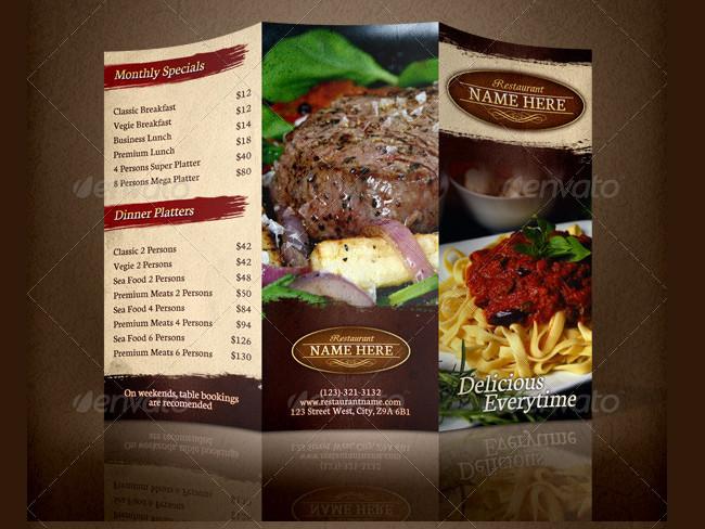 menu brochure design 17