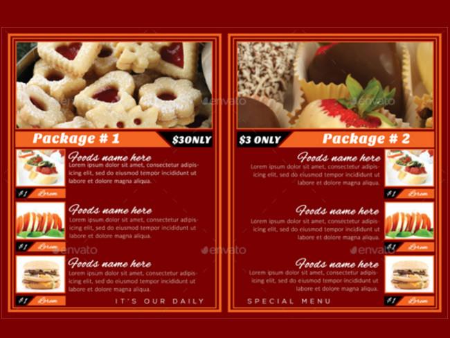menu brochure design 19