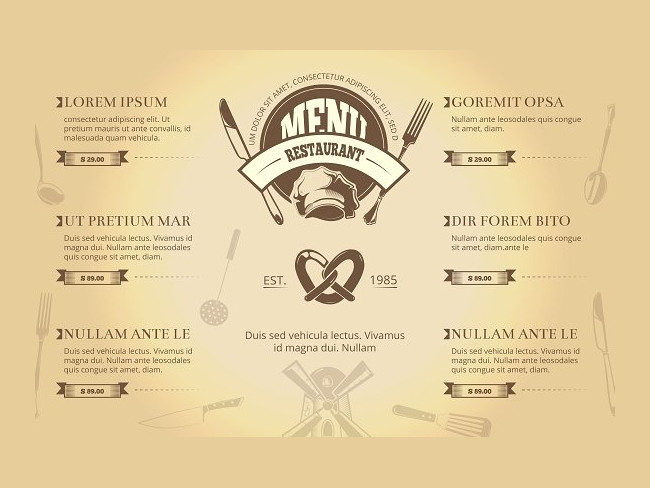 menu brochure design 2