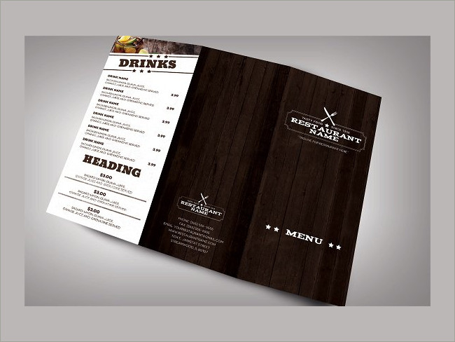 menu brochure design 4