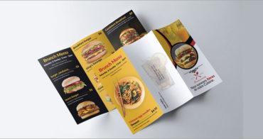 menu brochure design feat