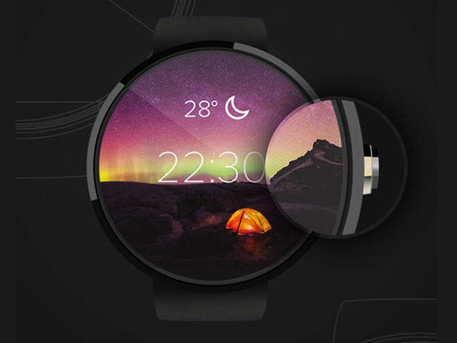 Customizable Free PSD Mock Up Moto 360