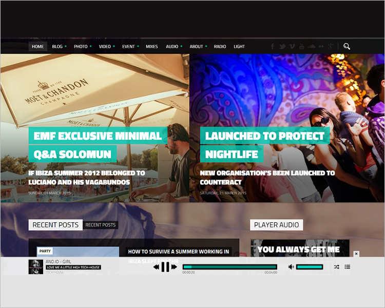 music Magazine WordPress Template