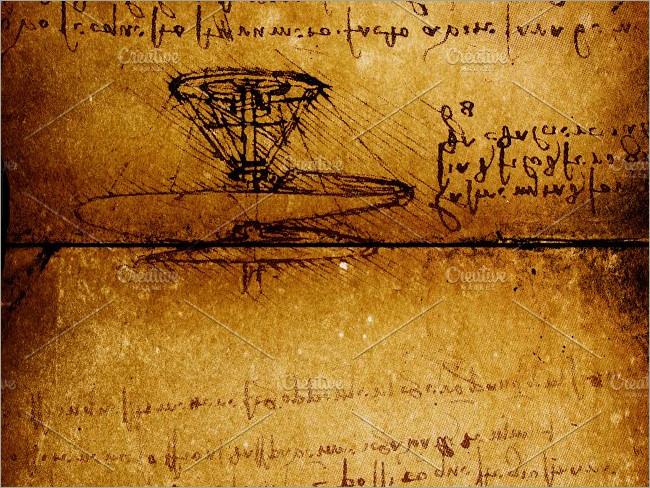 Ancient Aircraft Technology Script Paper Textures