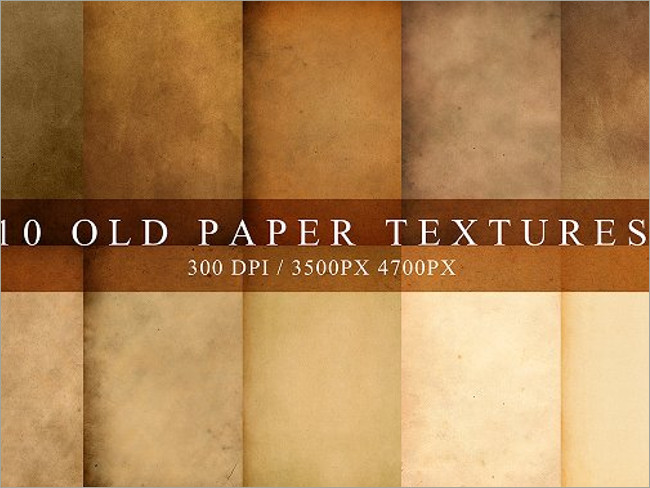 High Resolution Old Paper Textures
