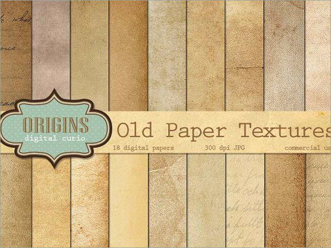 4 PSD Old Paper Grunge Textures
