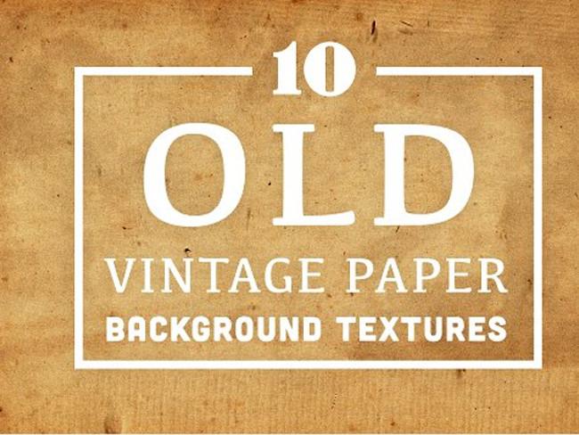Old Vintage Paper Background Textures