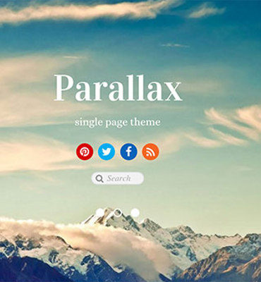 parallax wordpress templates