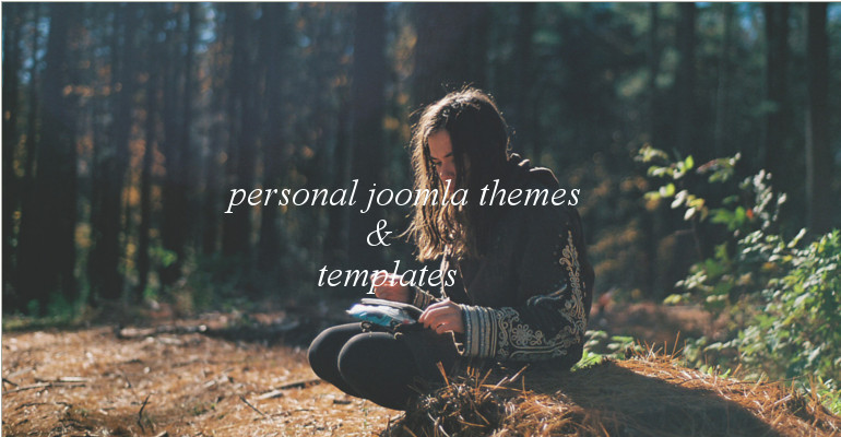 personal joomla theme feat